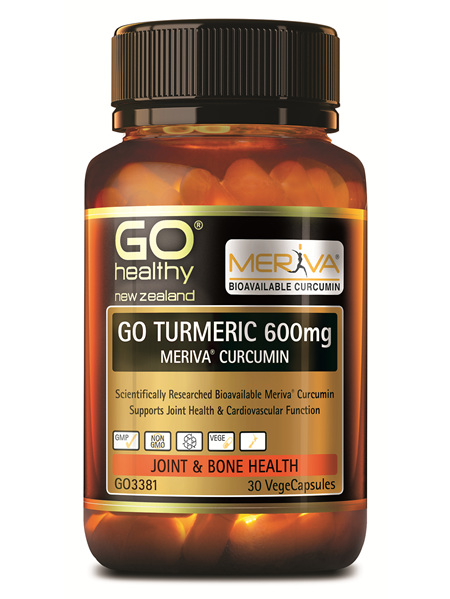 GO TURMERIC 600mg MERIVA CURCUMIN  Supports Joint Health 30 Vcaps