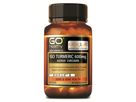 GO TURMERIC 600mg MERIVA CURCUMIN - Supports Joint Health (30 Vcaps)