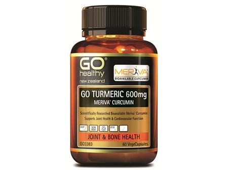 GO TURMERIC 600mg MERIVA CURCUMIN - Supports Joint Health (60 Vcaps)
