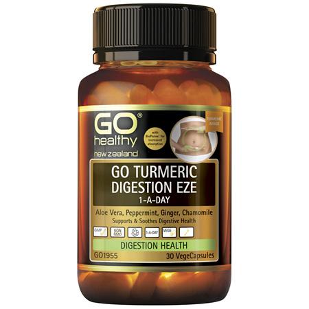 GO Turmeric Digest Eze 1-A-Day 30Vcap