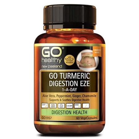 GO Turmeric Digest Eze 1-A-Day 60Vcap