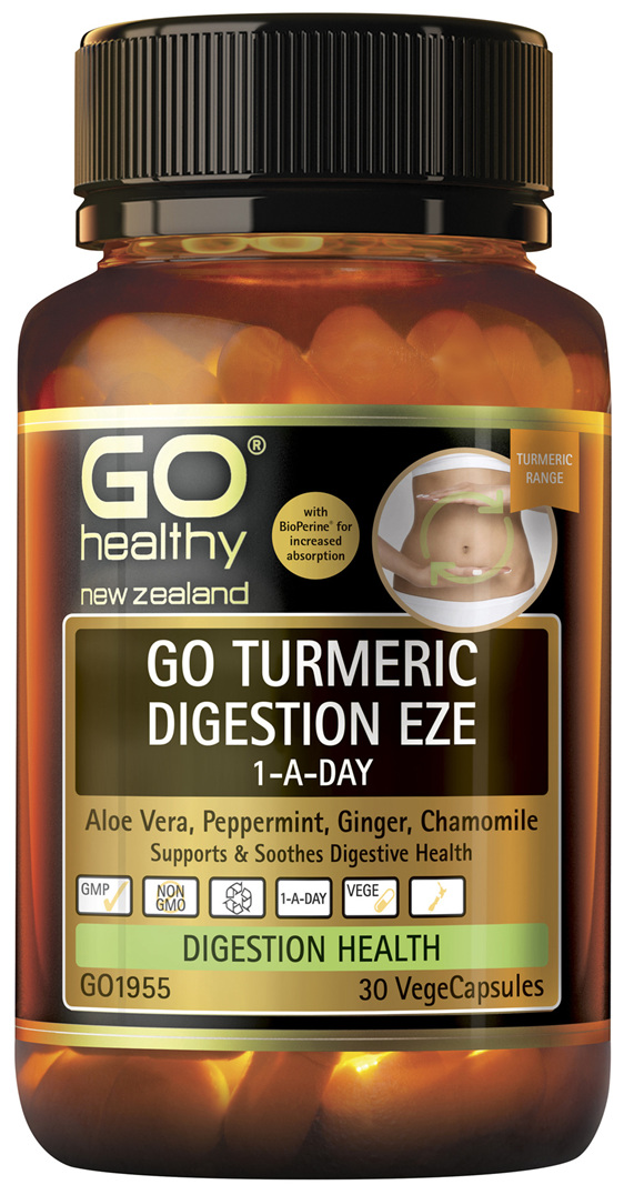 GO Turmeric Digestion Eze 1-A-Day 30 VCaps