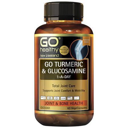 GO Turmeric + Glucosamine 1-A-Day 120Vcap