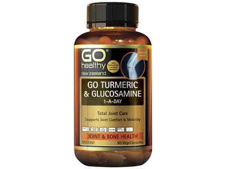 GO Turmeric & Glucosamine 1-A-Day 60 Caps