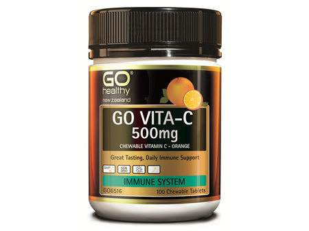 GO VITA-C 500MG - CHEWABLE VITAMIN C - ORANGE (100 C-TABS)