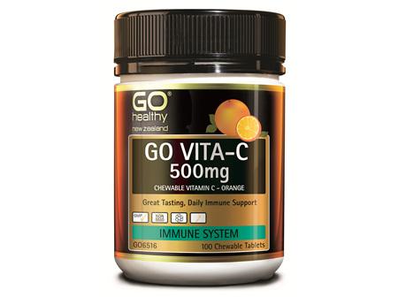 GO VITA-C 500MG - CHEWABLE VITAMIN C - ORANGE (100 C-TABS)