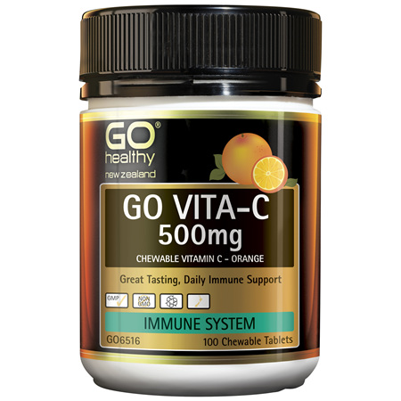 GO Vita-C 500mg (Orange) 100 Chew Tabs
