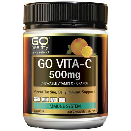 GO Vita-C 500mg (Orange) 200 Chew Tabs
