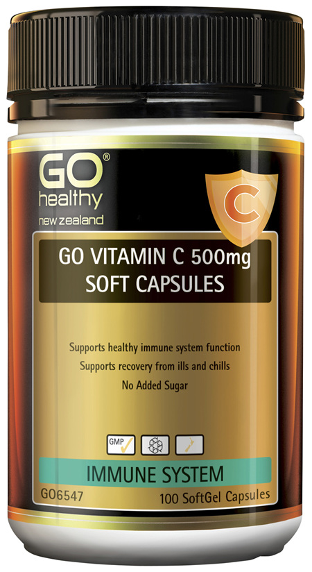 GO Vitamin C 500mg Soft Capsules 100 Caps