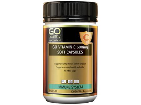 GO Vitamin C 500mg Soft Capsules 100 Caps