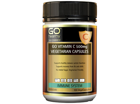 GO Vitamin C 500mg Vegetarian Capsules 100 VCaps