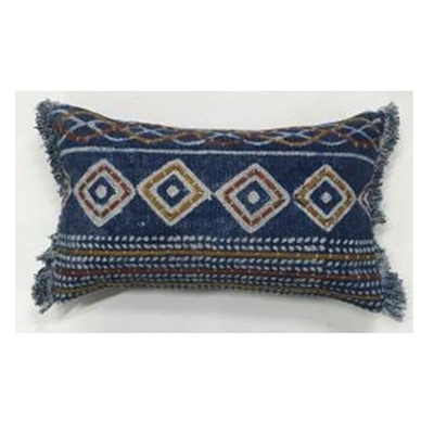 Goa Cushion - Blue/Rust/Mustard - 30x50cmh
