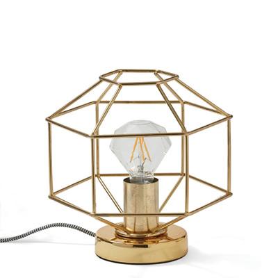 Gold Diamond Outline Lamp