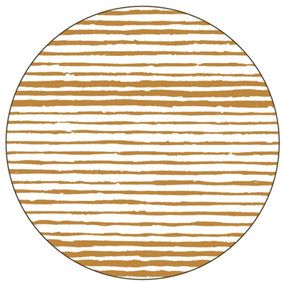 Gold Linear Placemat - Round