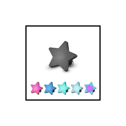 Gold Plated Star Dermal Top
