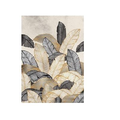 Golden Leaf Canvas Print In Frame