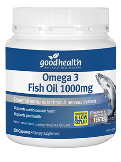 Good Health Omega 3 Fish Oil 1000mg 400 caps
