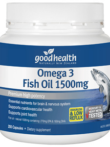Good Health Omega 3 Fish Oil 1500mg 400 caps