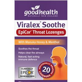 GOOD HEALTH VIRALEX SOOTHE EpiCor THROAT LOZENGES 20s