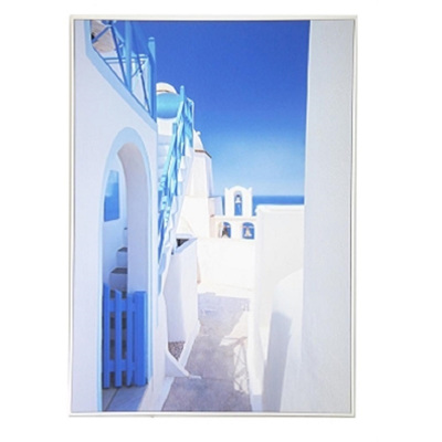 Greece Classic Canvas W White Frame 100x140cm
