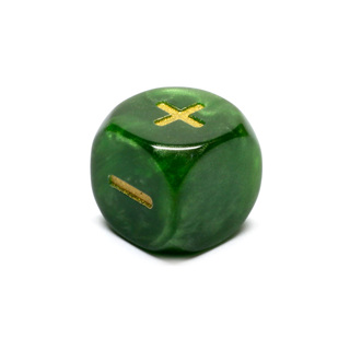 Green Fudge/Fate Six Sided Dice (16mm)