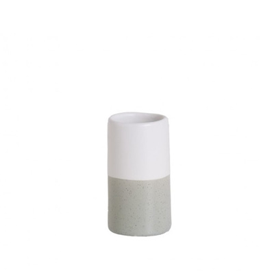 Grey and White Speckled Vase