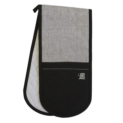 Grey Chambray Double Oven Glove