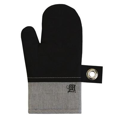 Grey Chambray Single Oven Glove