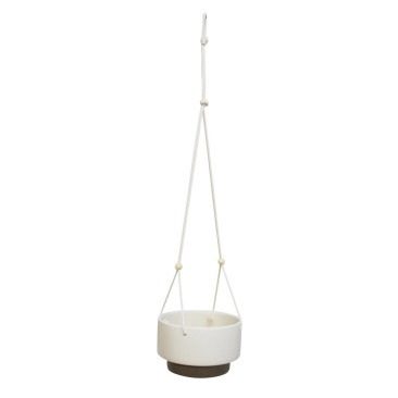 Grove Hanging Planter - White/Grey Squat