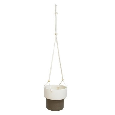 Grove Hanging Planter - White/Grey Tall