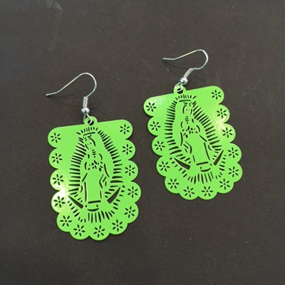 Guadalupe Cut Out Earrings Green