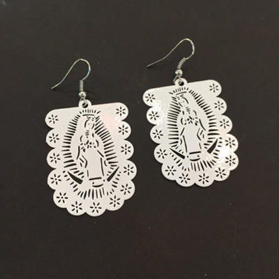 Guadalupe Cut Out Earrings White