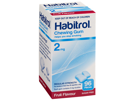 Habitrol Coated Gum Fruit 2mg 96's