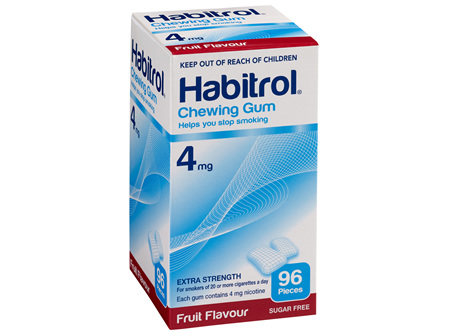Habitrol Coated Gum Fruit 4mg 96's