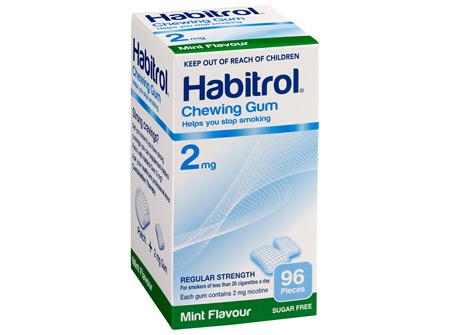 Habitrol Coated Gum Mint 2mg 96's