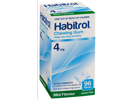 Habitrol Coated Gum Mint 4mg 96's