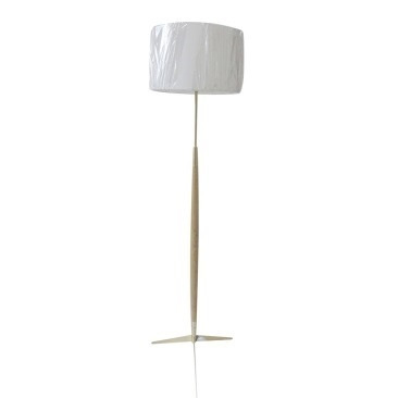 Halette Oak Rocket Floor Lamp W Brass Stand 148cm
