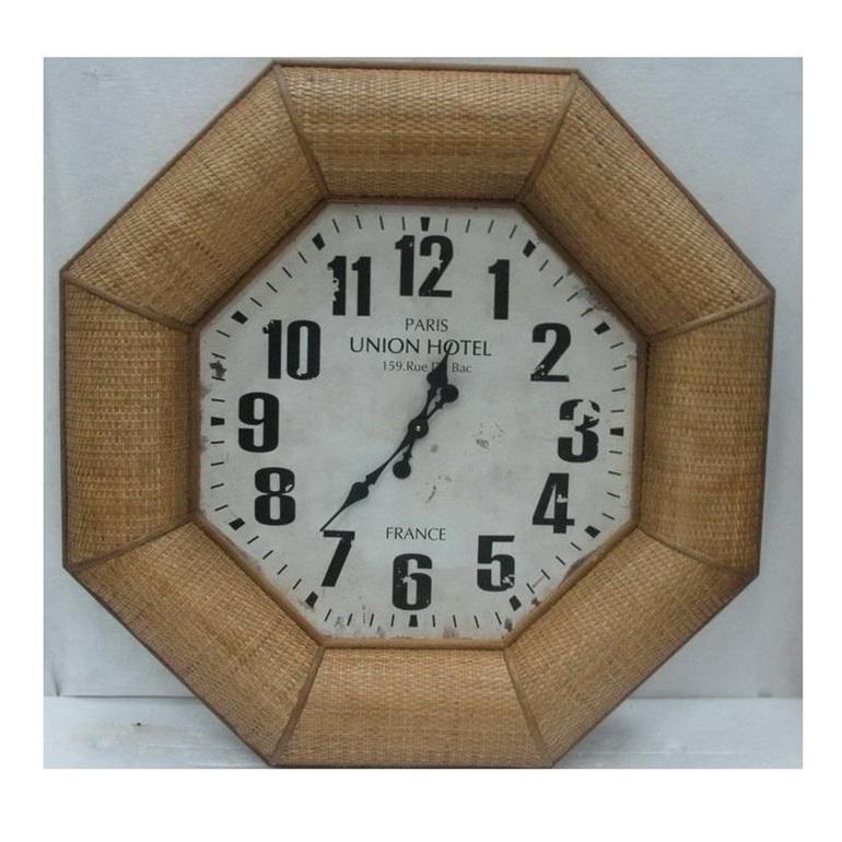 Hampton Clock - Woven Frame - 90cmh