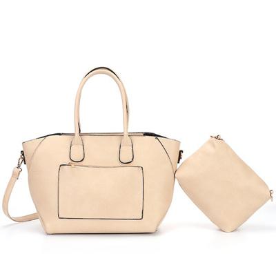 Handbag with Strap - Tan