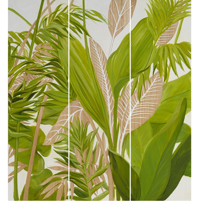 Handpainted & Carved Wooden Palm Panels II