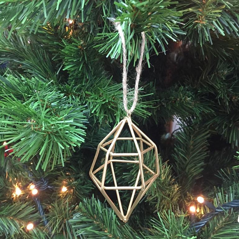 Hanging Geometric Diamond Gold (S)