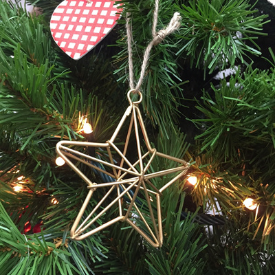 Hanging Geometric Star Gold (S)