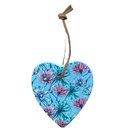 Hanging Heart Blue Lily