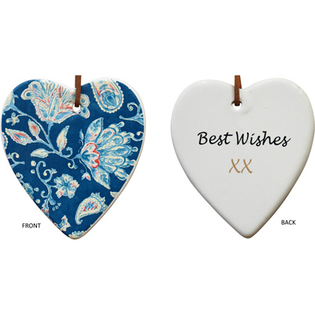 Hanging Heart Vintage Blue
