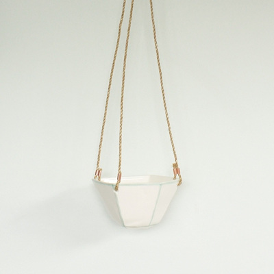 Faceted Hanging Planter Mint