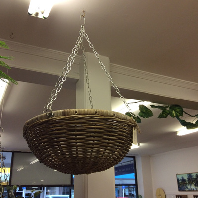 Hanging Rattan Basket Natural 50cm