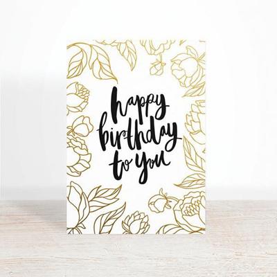 Happy Birthday Botanical Greeting Card