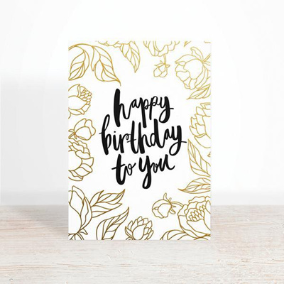 Happy Birthday Botanical Greeting Card