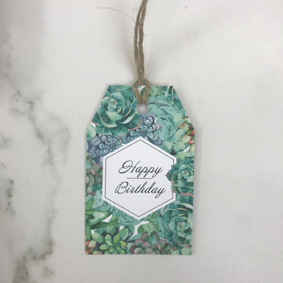 Happy Birthday Cacti - Gift Tag