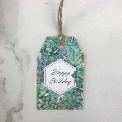 Happy Birthday Cacti - Gift Tag